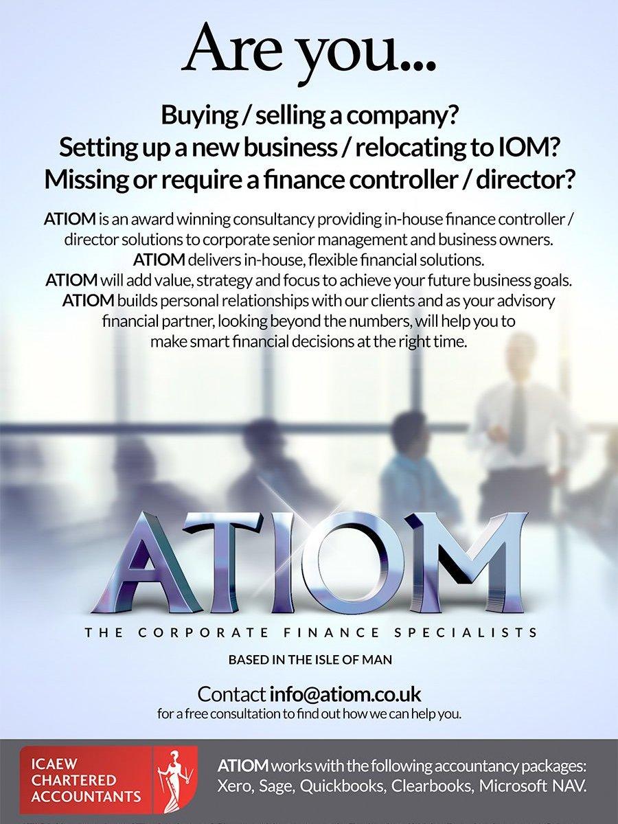 ATIOM Logo Design Isle of Man