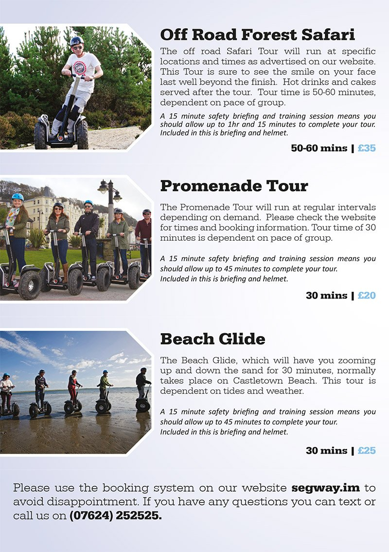 Segway Isle of Man Graphic Design