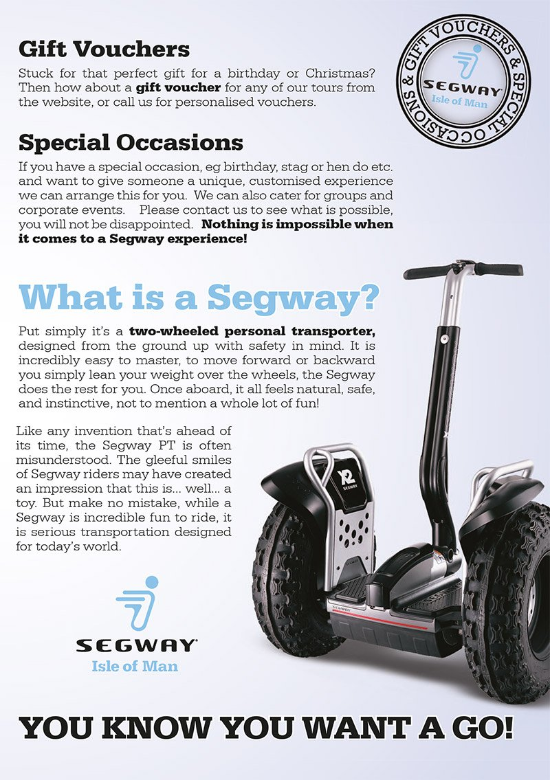 Segway Flyer Graphic Design Isle of Man