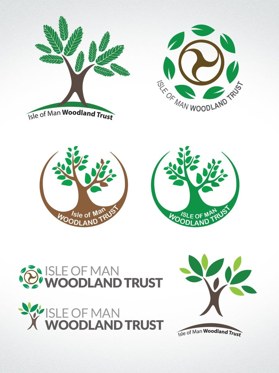 Isle of Man Woodland Trust Logo Design